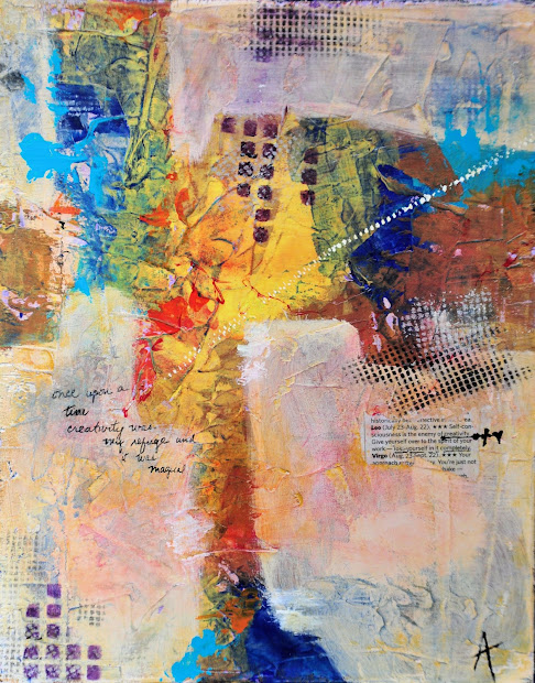 Abstract Collage Paintings with Acrylic