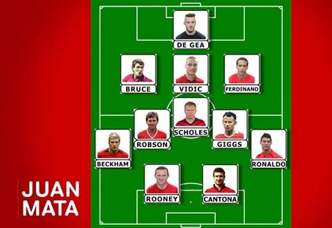 Đội hình do Juan Mata lựa chọn