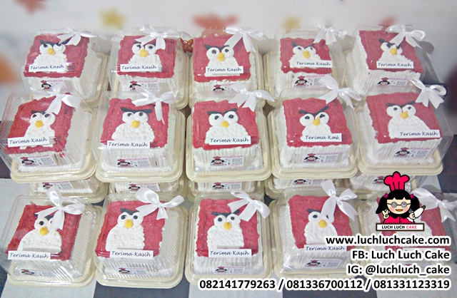 Mini Cake 10cm Hampers Khitanan Tema Angry Bird
