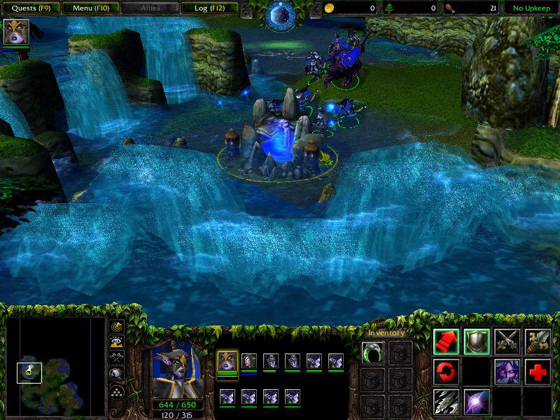 175001 warcraft iii the frozen throne windows screenshot pretty waterfalls - Warcraft 3 + Frozen Throne