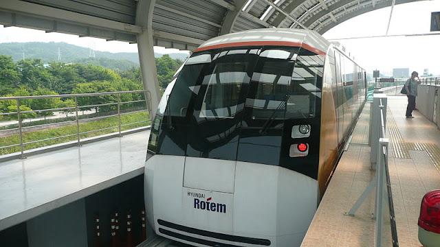 Gambar Kereta Maglev di Korea