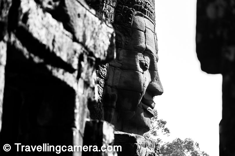 All through the Bayon complex, there are stairs running up and down. There are places where you can pose in a way that it appears that you are kissing the statues. The staff at Bayon will gladly help you identify these spots and even guide you how those pictures should be clicked.
