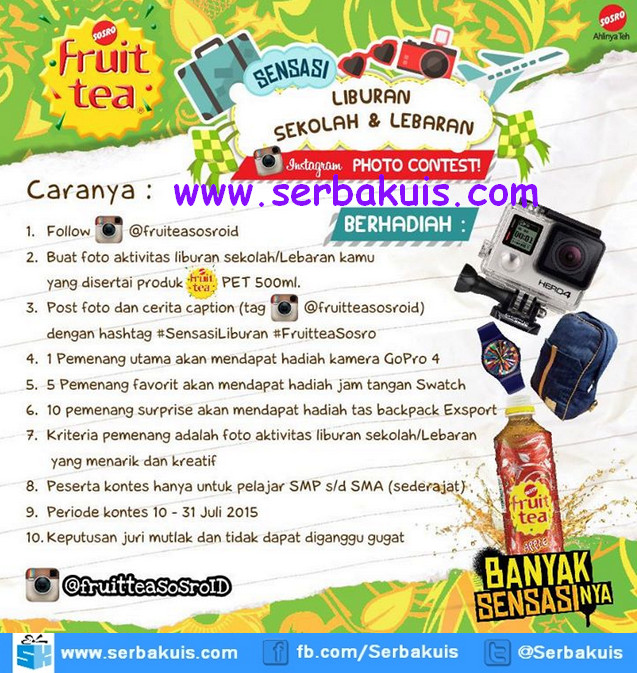 Kontes Foto Sensasi Liburan Fruit Tea Hadiah GoPro HERO 4