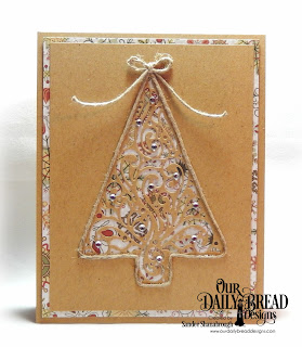 Our Daily Bread Designs Custom Dies: Flourished Tree Inset, Paper Collection: Retro Christmas