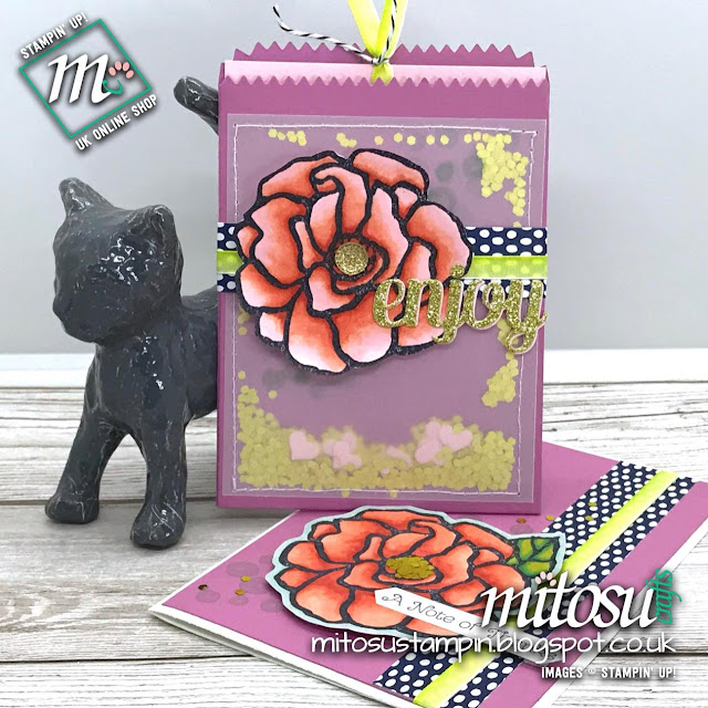 Stampin' Up! Beautiful Day Rubber Stamp & Mini Treat Bag Order from Mitosu Crafts UK Online Shop