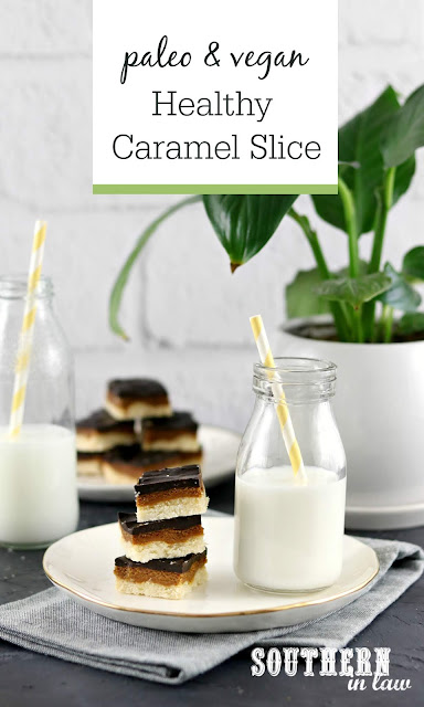 Paleo Vegan Caramel Slice Recipe