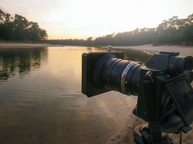 Laowa 12mm f/2.8 с установленным фильтром