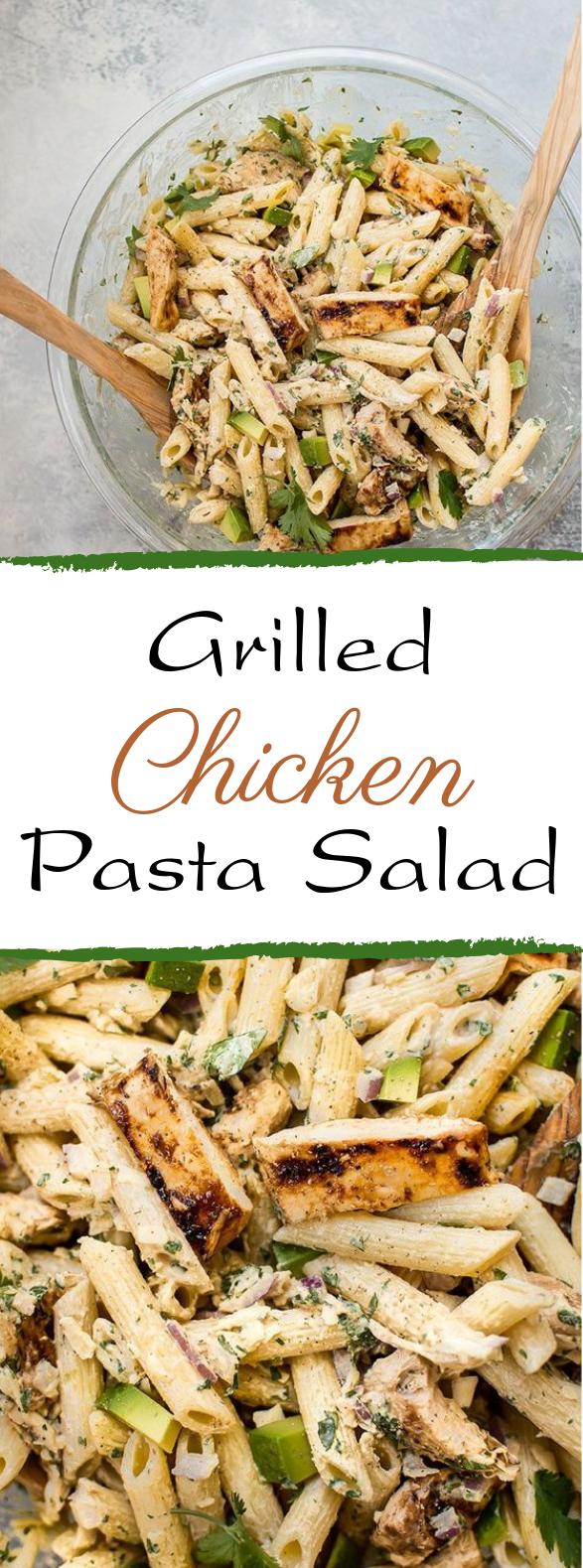 Grilled Chicken Pasta Salad #summerrecipe #salad