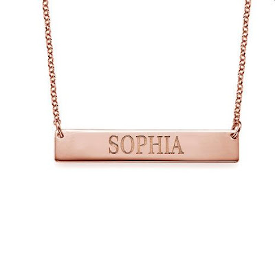 Rose Gold Bar Name Necklace | Libi & Lola