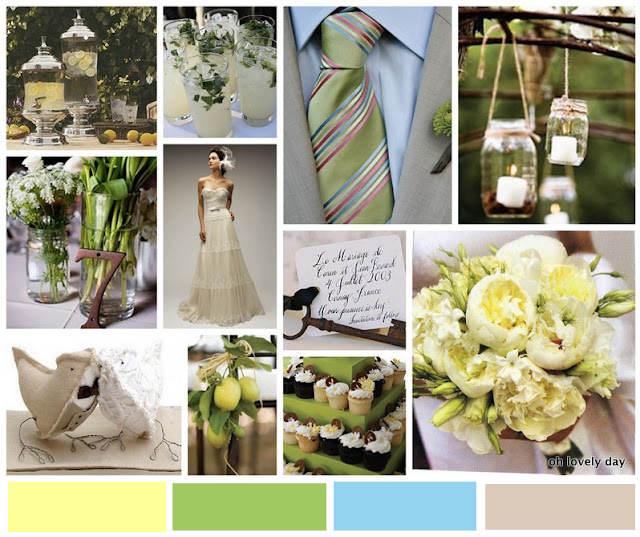 inspiration board | DIY + paper details | vintage california chic wedding of Oh Lovely Day | Photo by Jennifer Roper