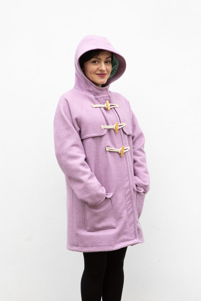 Tilly's winter Eden duffle coat - sewing pattern by Tilly and the Buttons