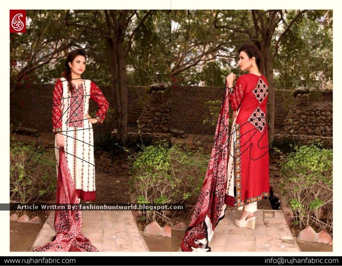f7a0812de3 Rujhan Fabrics Minahil Spring Summer Collection 2015 Volume 1 ...