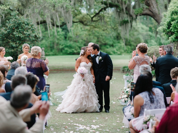 Blush and Gold Southern Fairytale Real Wedding