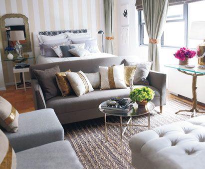 Kawalerka czyli salon i sypialnia w jednym kasia gal - Small couch for studio ...