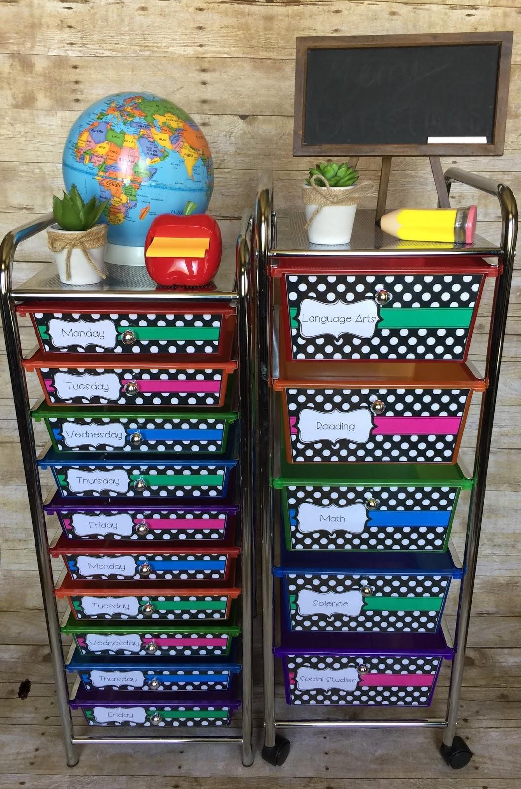 Teaching With Terhune Classroom Organization Storage
