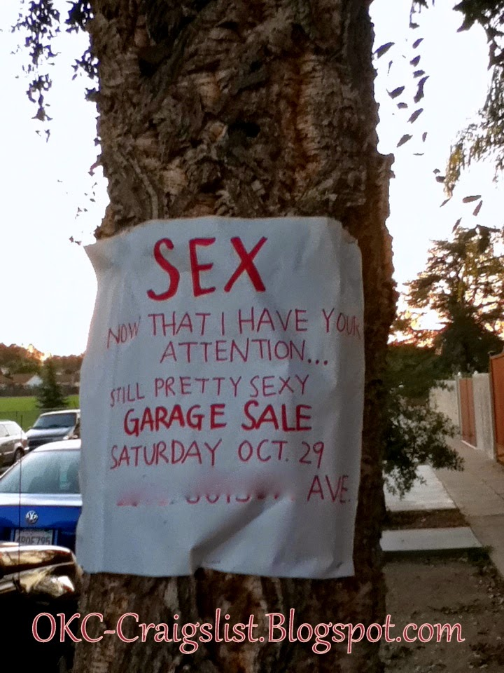 GARAGE SALE SIGN-OF-THE-WEEK: Made ya look! | Oklahoma City Craigslist Garage Sales