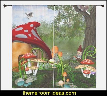 Dwarves Land  Curtains snow white bedroom decorations
