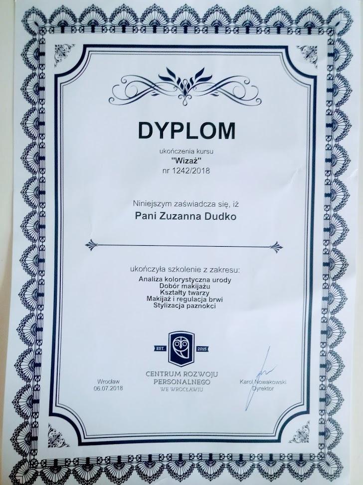zuzkapisze dyplom wizaż