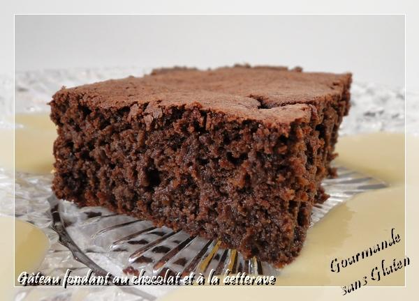 Gâteau fondant au chocolat et à la betterave