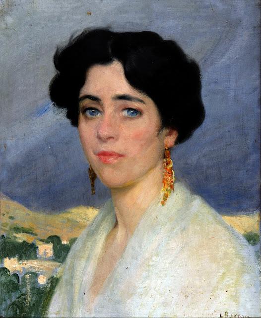 Laureano Barrau Buñol, Retrato de una mujer, Pintura española, Pintor Catalán, Retratos de Laureano Barrau Buñol