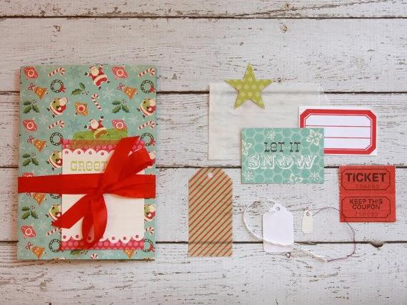 Holiday Smash Book Mini Album Planner | iloveitall.etsy.com