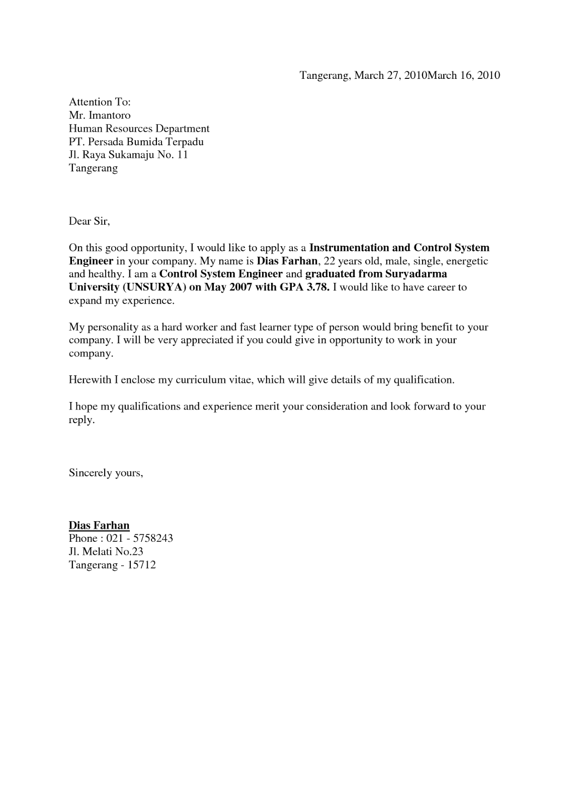 Contoh Surat Lamaran Kerja Receptionist Dalam Bahasa Inggris Dapatkan Contoh