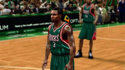 NBA 2K13 Brandon Jennings Hairstyle Patch