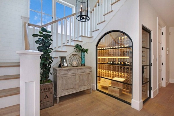 Wine Store Stair Area Glass Window Architecture Lighting