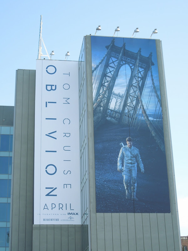 Giant Tom Cruise Oblivion billboard