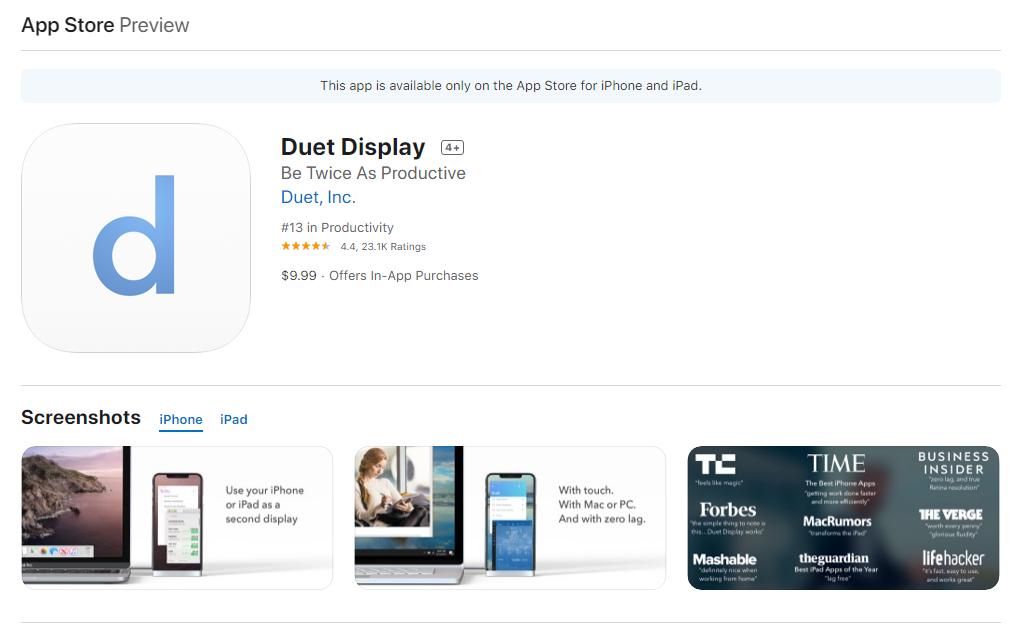 Cara menjadikan iPad sebagai monitor