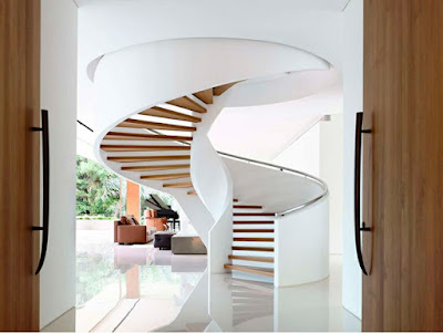 wooden spiral staircase design ideas