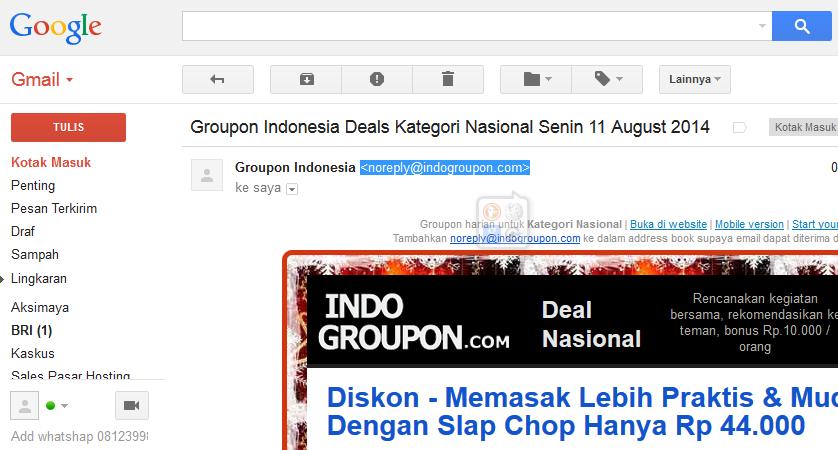 Block Alamat Email Dengan Gmail (Google Mail) 1