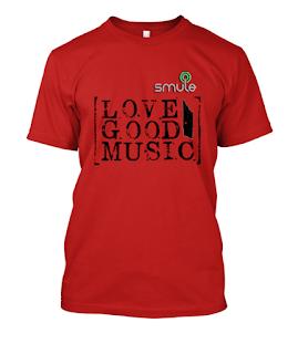 gambar Kaos Smule kaos smule love good music merah