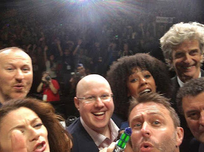 Chris Hardwick and the cast of Doctor Who at San Diego Comic Con