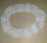 古着のリニューアル用に付け襟を編んでみた,crochet collar,钩针织领