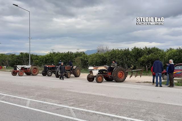 Σε συμβολική κατάληψη  Εθνικής οδού προχώρησαν οι αγρότες της Αργολίδας