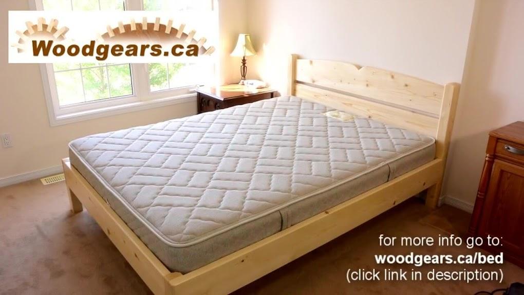 Diy como hacer una cama de dos plazas de madera pino f cil - Dos camas en una ...