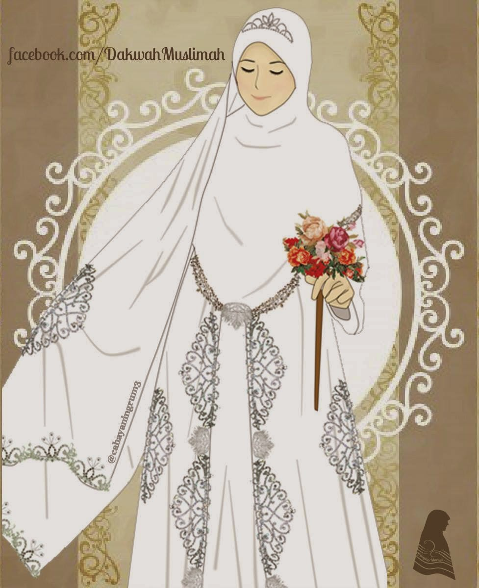Gambar Kartun Muslimah Jilbab Syari Kantor Meme