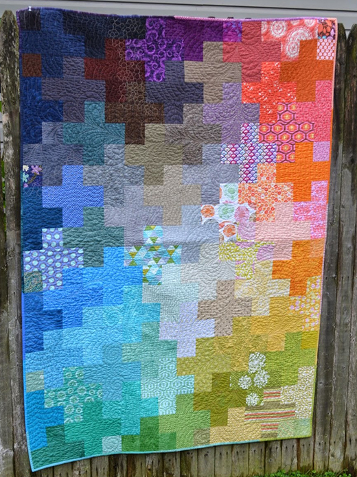 Scrappy Plus Quilt Free Pattern
