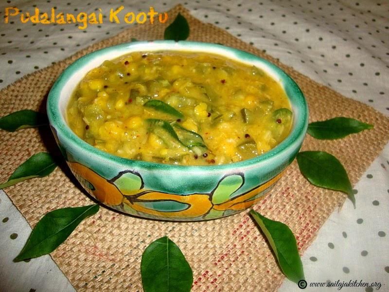 Pudalangai Kootu recipe / Snake Gourd Kootu Recipe