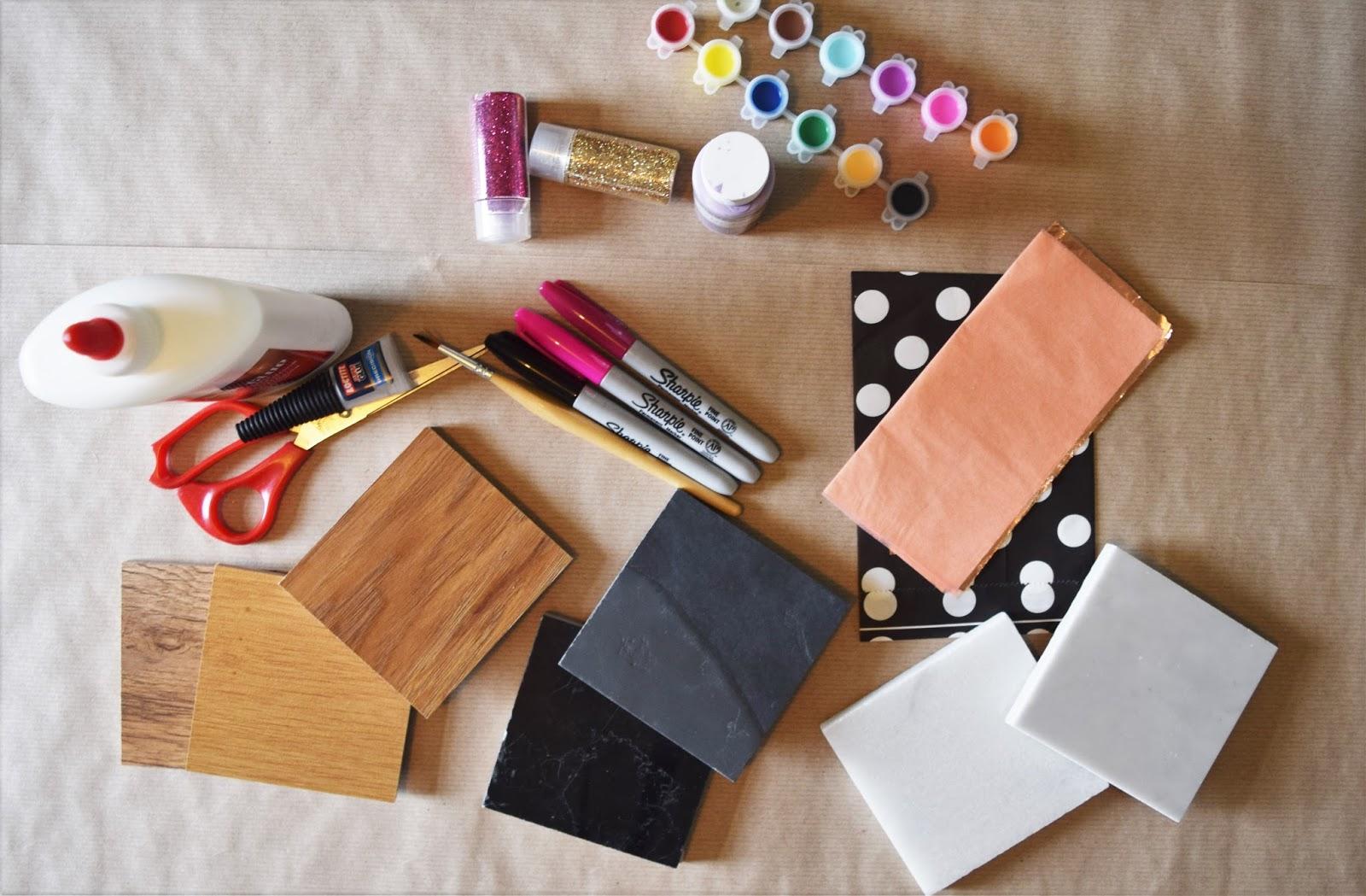 DIY FLOORING SAMPLE COASTERS - A Life With Frills