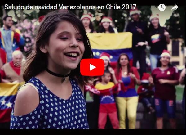 Venezolanos en Chile también hicieron un Súper-Mensaje de Navidad
