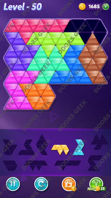 Block! Triangle Puzzle Proficient Level 50 Solution, Cheats, Walkthrough for Android, iPhone, iPad and iPod