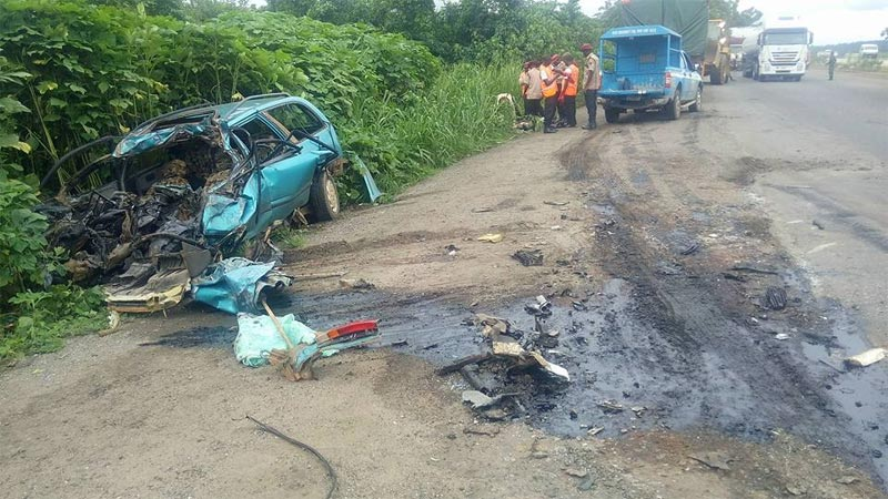 Three dead as truck rams into vehicle in Ogun State