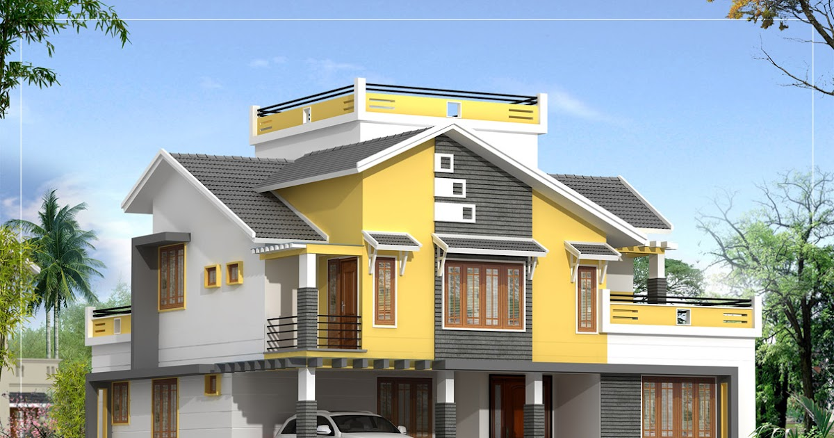 villa elevation 2550 sq ft kerala home design and floor plans. Black Bedroom Furniture Sets. Home Design Ideas