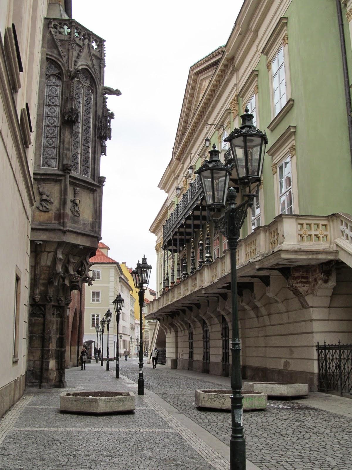 prague street architecture