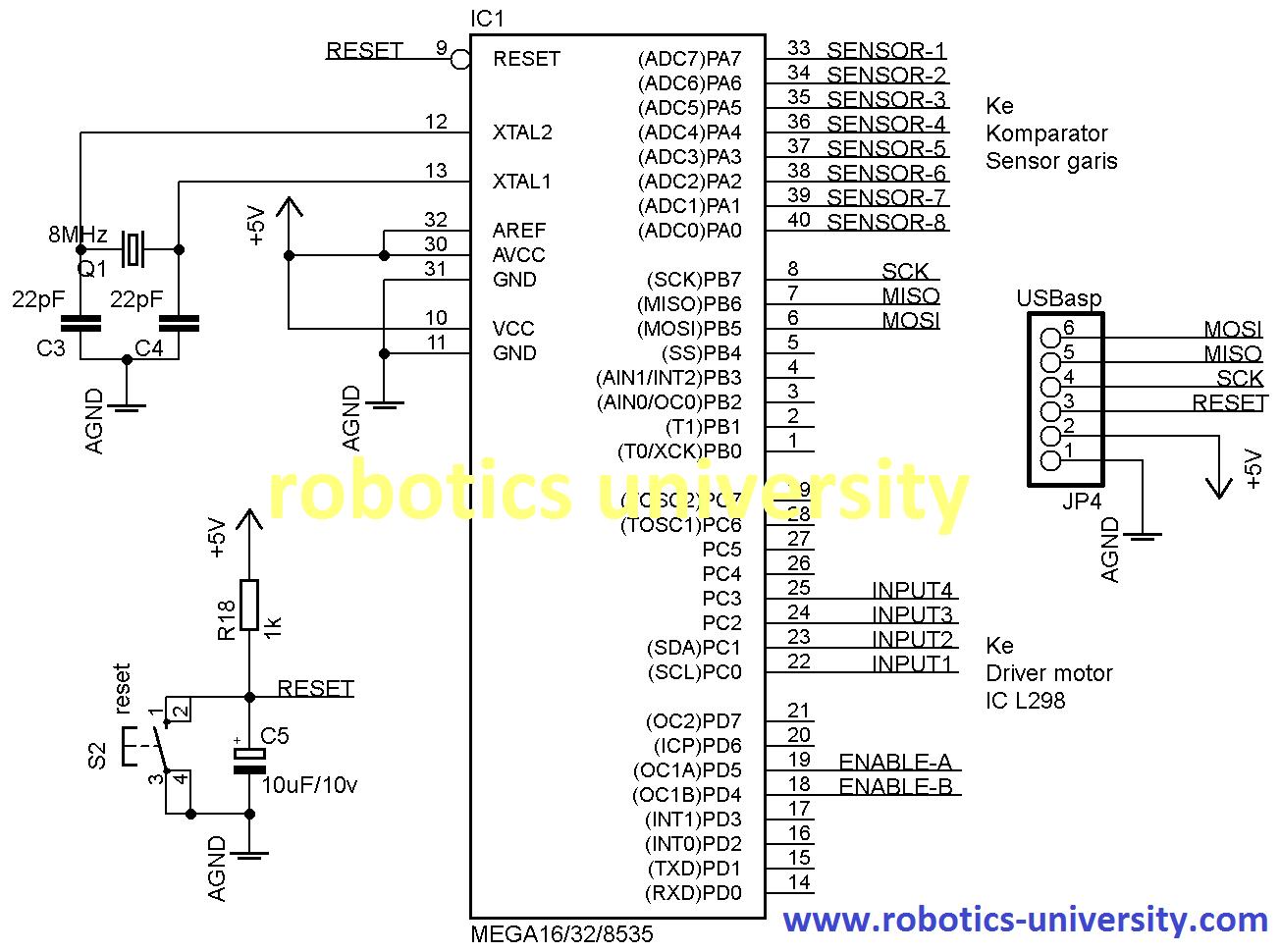 Skematik Pengendali Robot4