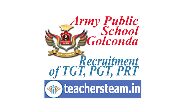 army public school golconda recruitment of tgt pgt prt