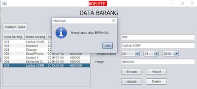 6 - 6 Langkah Gampang Menciptakan Aplikasi Crud Sederhana Memakai Java Netbeans + Database Mysql