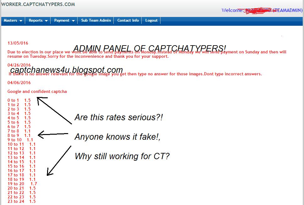 Captcha News 4 U: I'm testing Captchatypers rates